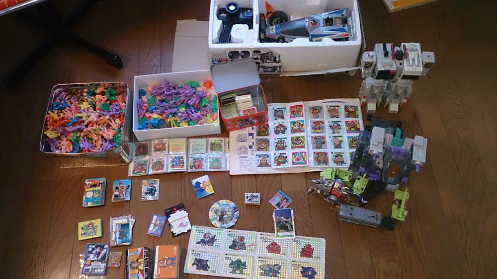 その昔遊んだ懐かしのおもちゃを売って見ました。