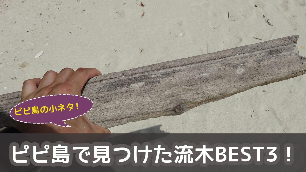 ピピ島で見つけた流木BEST3!!